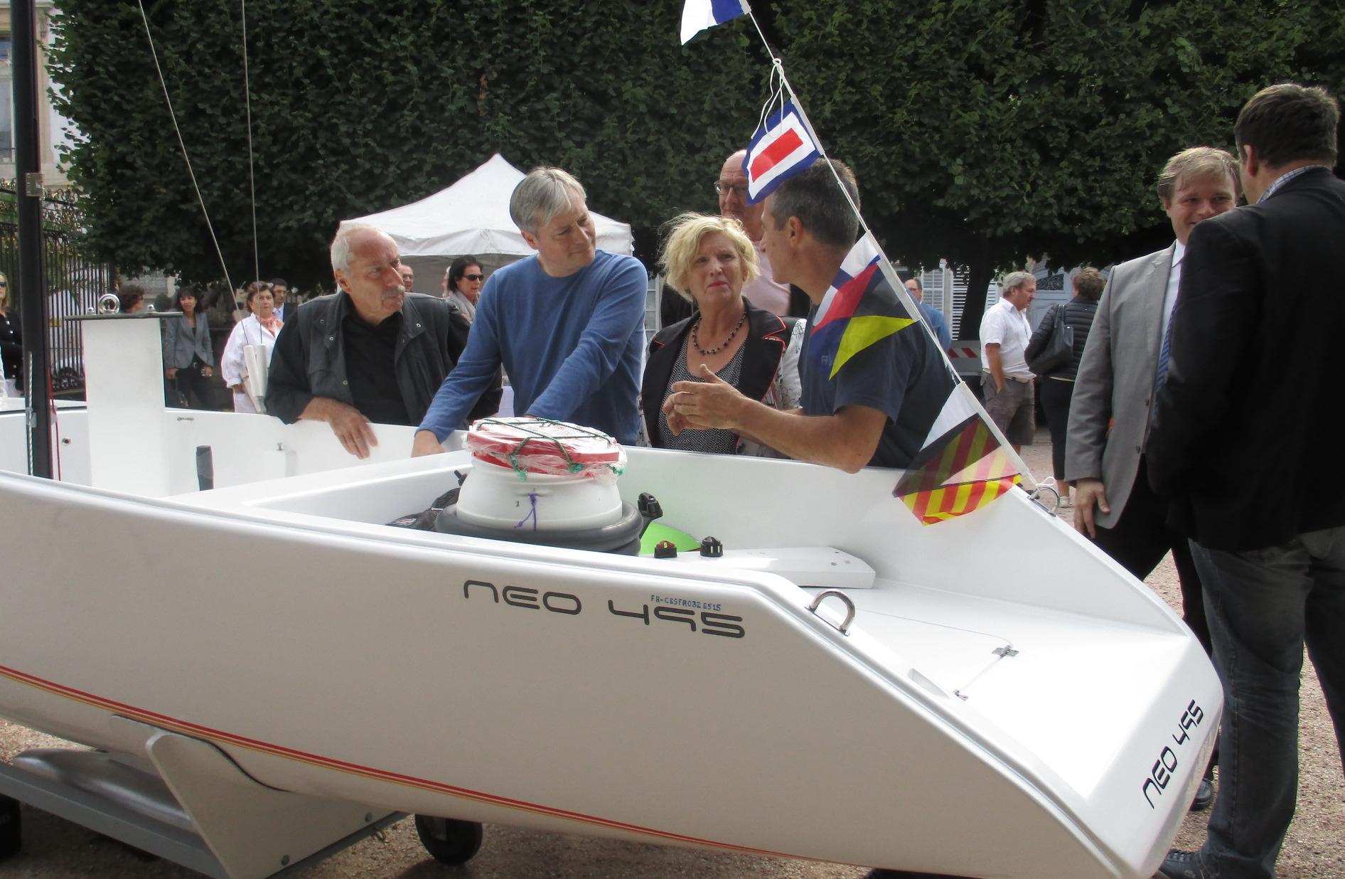 Inauguration neo495 L. Henart, , H Peccard, D Lemoine